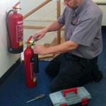 монтаж на пожарогасители