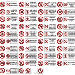Забраняващи стикери и табели