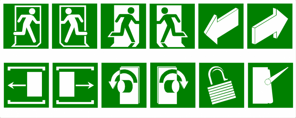 Евакуационни указателни знаци