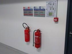 Пожарогасители и схеми за евакуация, пожарна безопасност